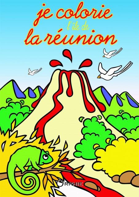Je colorie l'île de La Réunion